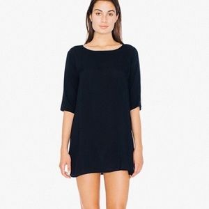 American Apparel Black Tent Dress M/L Made in USA